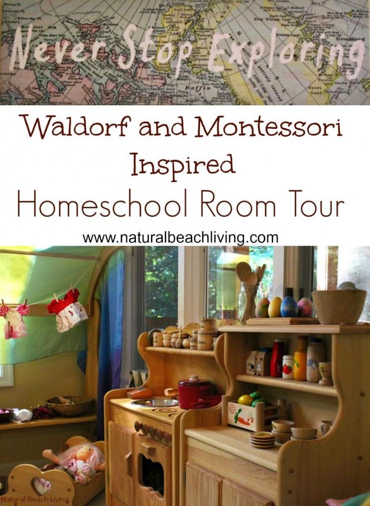 Waldorf and Montessori homeschool room