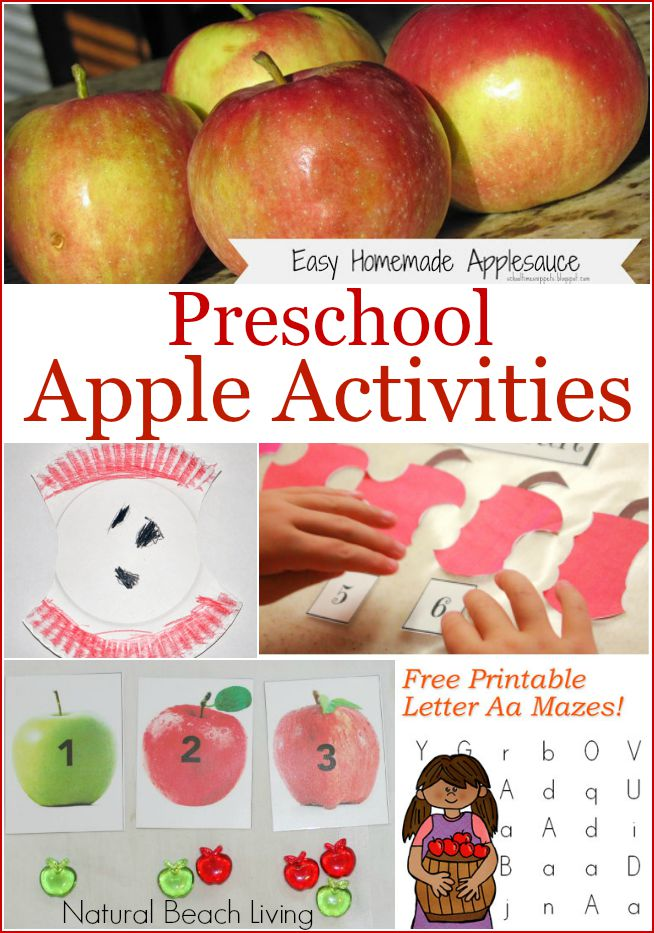 Preschool Apple Activities (Linky 32)
