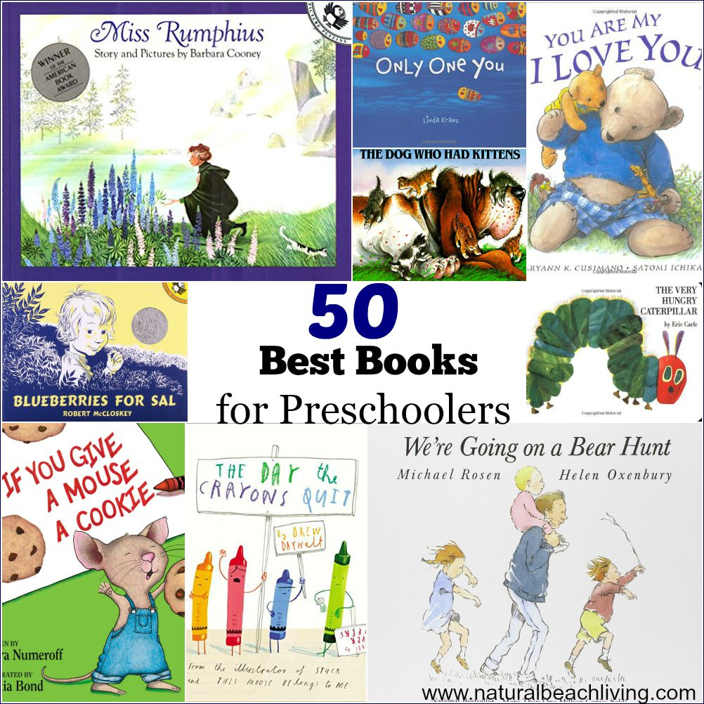 50 Best Books for Preschoolers – Free Printables Reading Logs