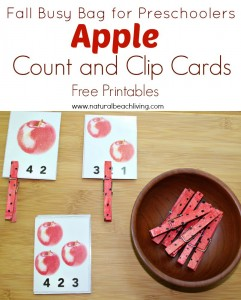 Fall Apple Counting Busy Bag for Preschoolers (Free Printables)