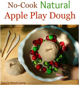 Natural Apple Scented No Cook Play Dough