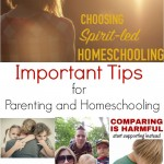 Important Tips for Parenting and Homeschooling (Linky 40)