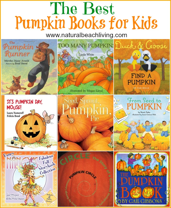 THE BEST PUMPKIN BOOKS FOR KIDS, Perfect for fall and Halloween, science, unit study, or just because they are great books to read to your kids. FIAR Books
