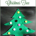 Montessori Inspired DIY Button Christmas Tree