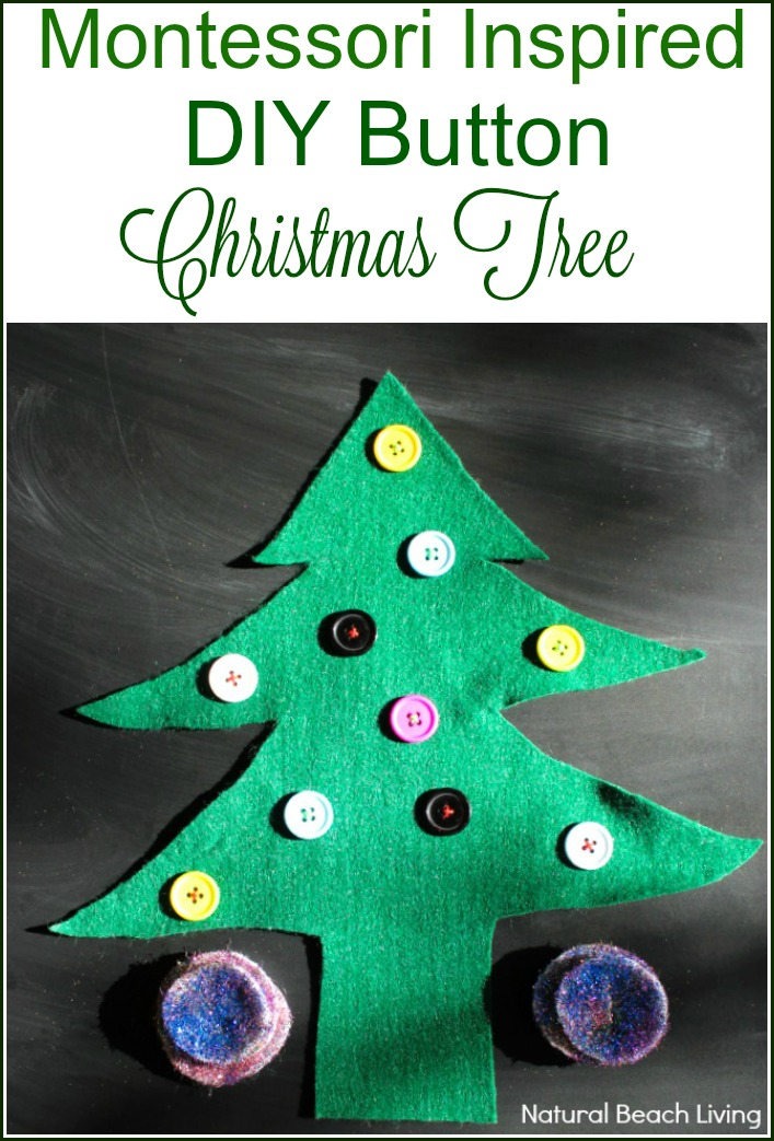 Montessori Inspired DIY Button Christmas Tree