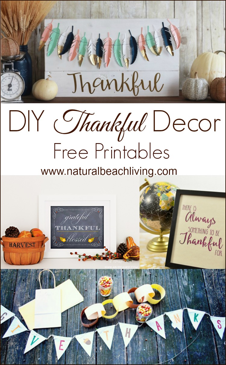 These Thankful DIY fall ideas will get you in the Thanksgiving mood. These handmade decorating ideas are easy and look wonderful.