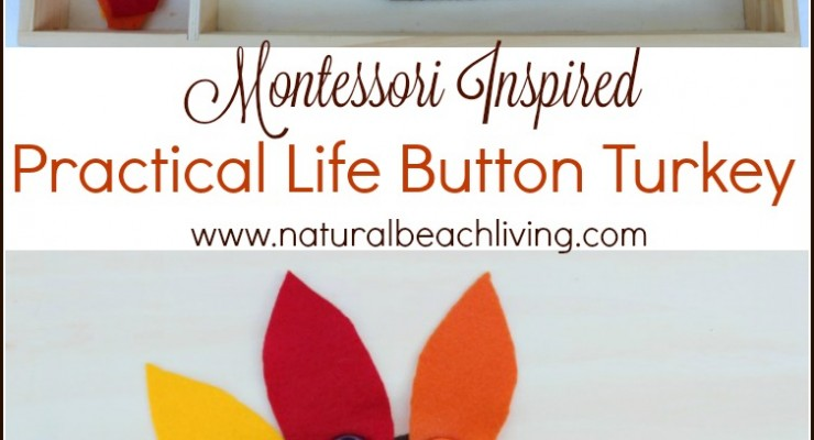 Montessori Practical Life Button Turkey Busy Bag