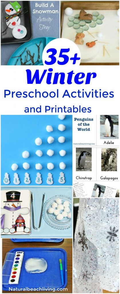 35 awesome winter preschool activities and free printables sensory play montessori preschool - Free Printable Preschool Activities