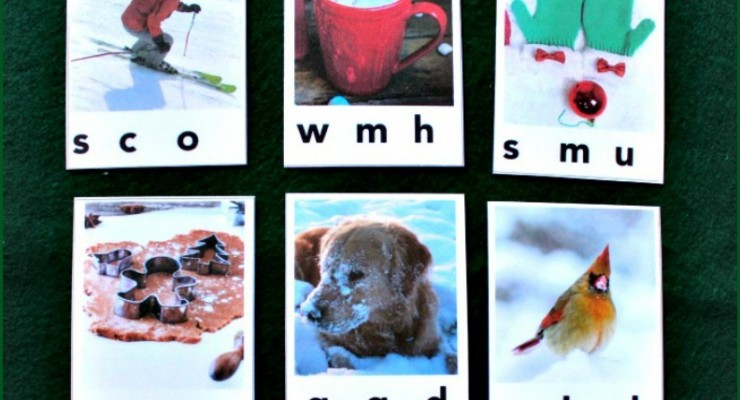 Wonderful Winter Beginning Sound Clip Cards (Free Printables)