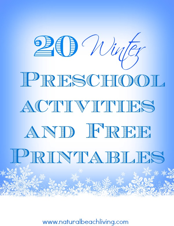 25 awesome winter preschool activities and free printables sensory play montessori preschool math - Free Printable Preschool Activities