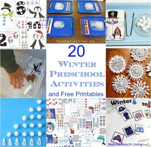 20 Winter Preschool Activities and Free Printables