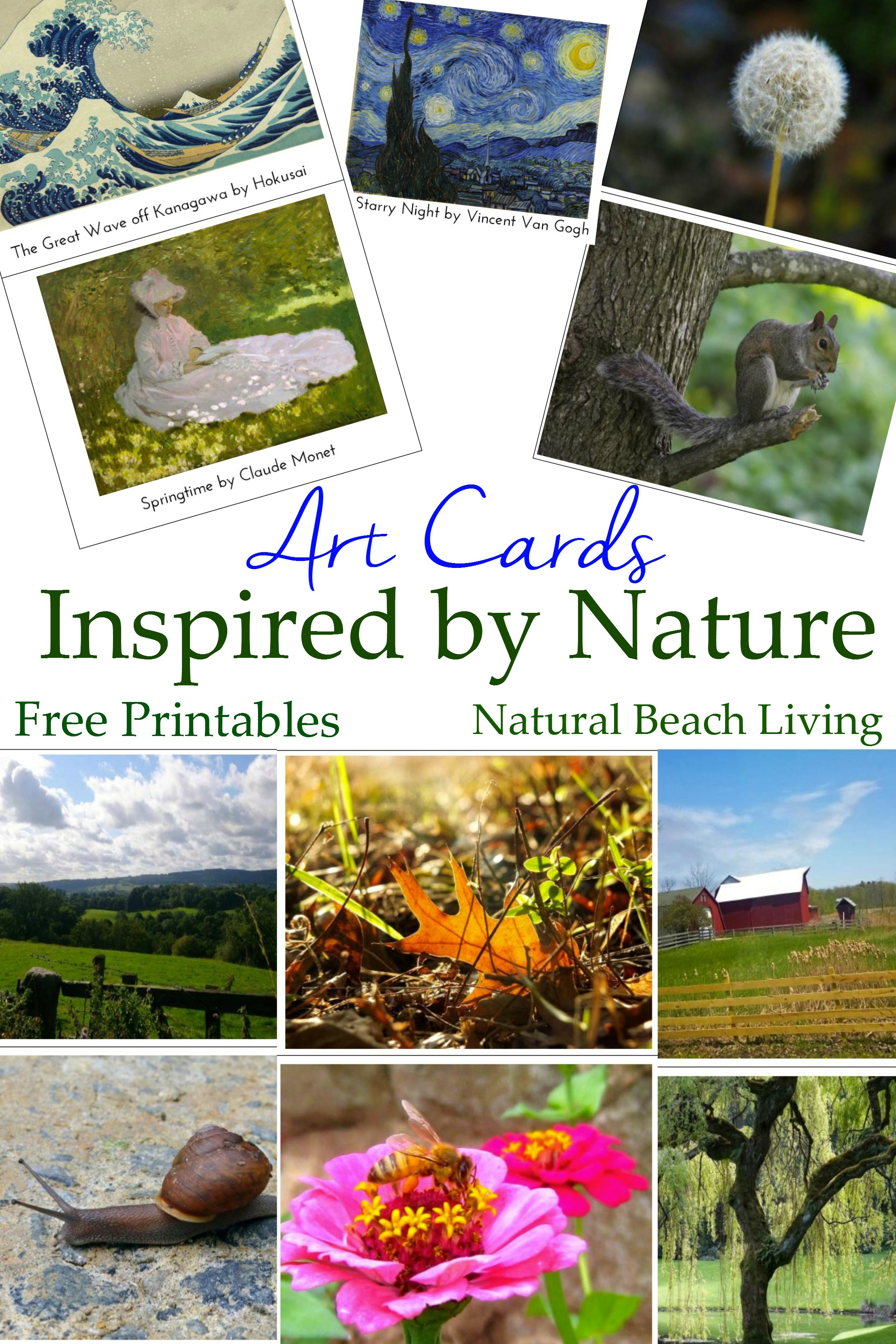 Montessori Art and Nature with Kids (Free Printables)