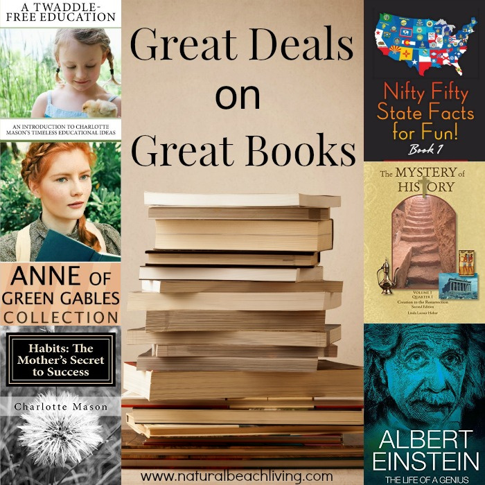 Great book deals on great books, homeschooling, non fiction, kids books, Charlotte Mason and so much more