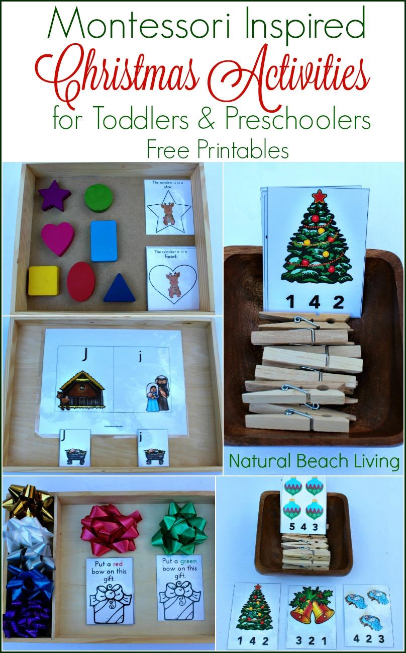 Montessori Inspired Christmas Activities for Preschoolers