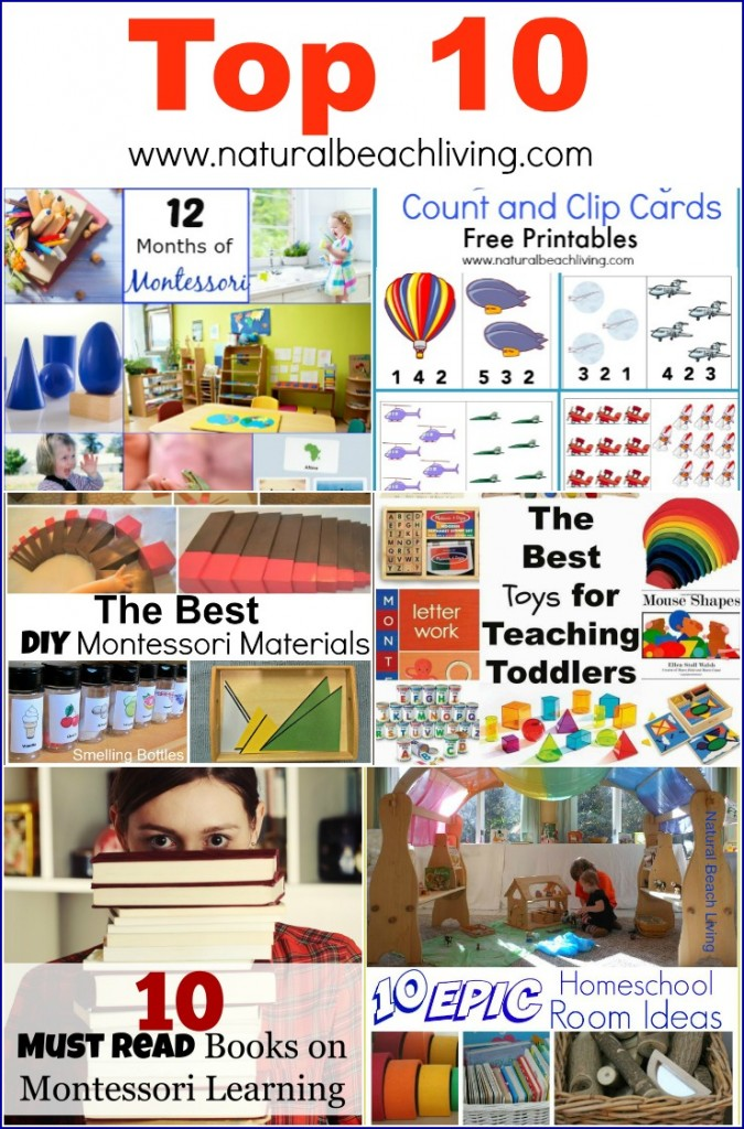 Top 10 Ideas and Activities from Natural Beach Living, Montessori , Teaching Toddlers, Sensory Play, Books, Free Printables and so much more