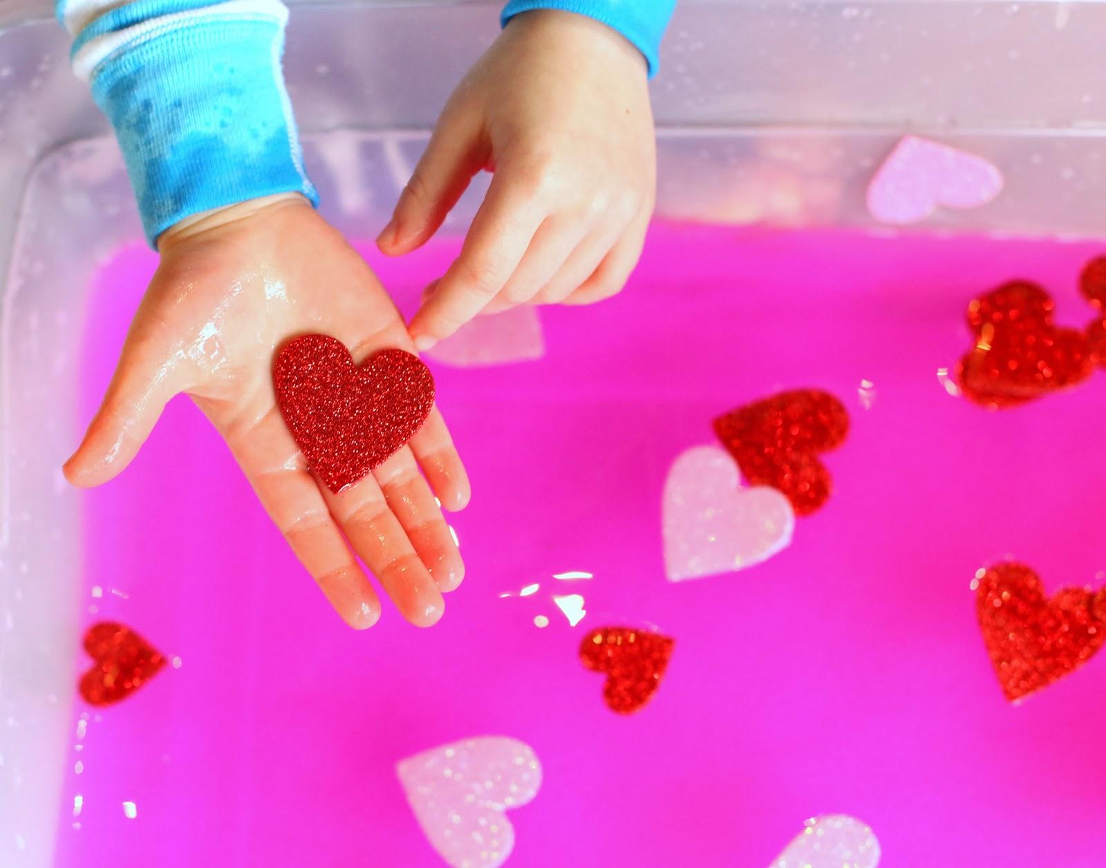 valentine soup sensory play