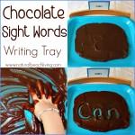 Chocolate Sight Words Writing Tray