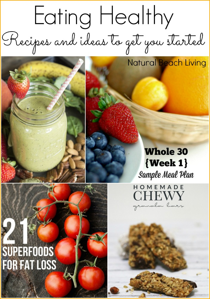 Eating healthy recipes and ideas to get you started linky 51 eating healthy whole foods recipes and ideas to get you started homemade smoothies forumfinder Images