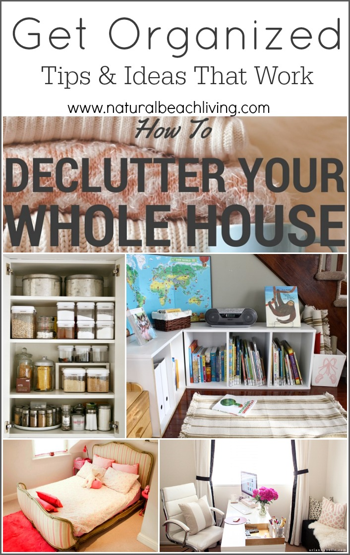 Get Organized in 2016 with these Tips and Ideas that Work, Reading Nooks, Mindful spaces, Kitchen organization, Printables and more.