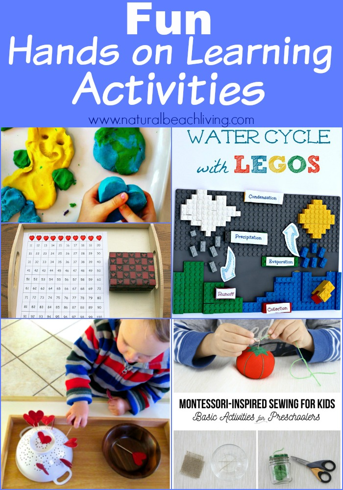 Fun Hands on Learning Activities for toddlers, preschoolers, and elementary children, Lego building Science, Handiwork, Sensory Play and more.