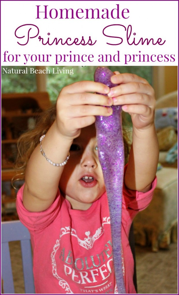 This is the Perfect Princess Homemade Slime that is super easy to make and the perfect Sensory Play Activitiy