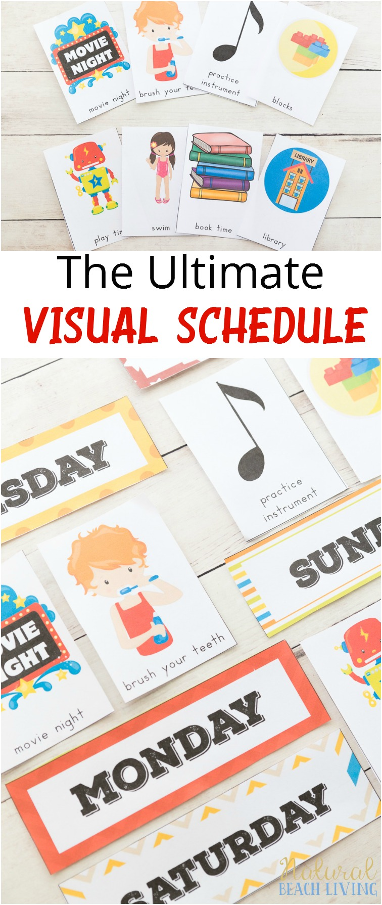 The Ultimate Daily Visual Schedule Bundle, Picture Cards, Autism, Visual Schedule Printables for the whole year