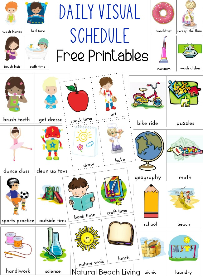 daily schedule printables, Home Visual Schedule Printables for Morning and Night Routine, Perfect Visual Schedule Printables for Kids, Special needs & Autism charts, Free Home Routine