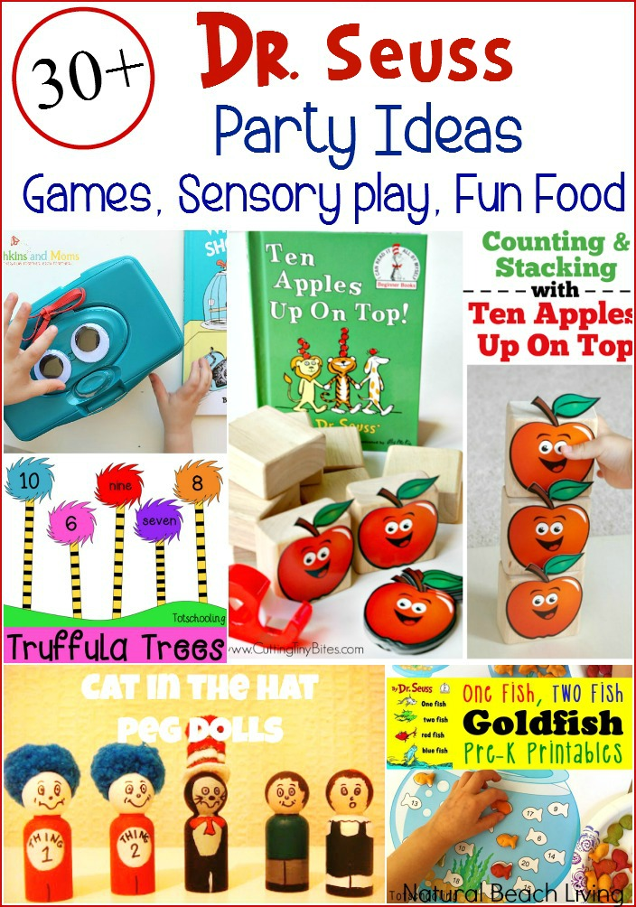 The Best 30+ Dr. Seuss Party Ideas, Games, Activities, Free Printables, Sensory Play, The Best Dr. Seuss Books, Adorable Dr. Seuss Snacks and Kid Food