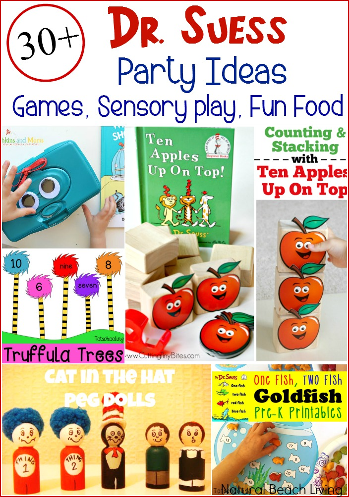 The Best 30+ Dr. Suess Party Ideas, Games, Activities, Free Printables, Sensory Play, The Best Dr. Suess Books, Adorable Dr. Suess Snacks and Kid Food
