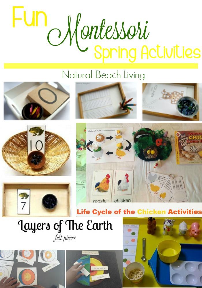 Fun Montessori Spring Activities, Montessori Math, Alphabet, Montessori Trays, and lots of Animal and Life Cycle Ideas.