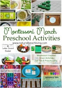 10+ Montessori March Preschool Activities