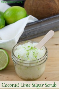 The Most Amazing Coconut Lime Sugar Scrub