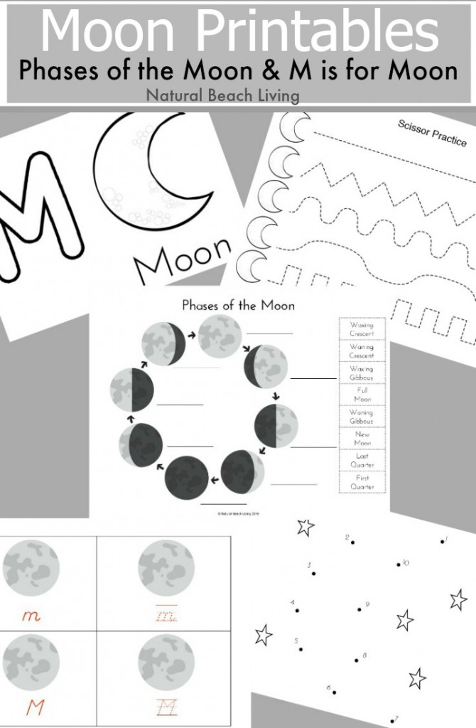 FREE Printables And Unit Studies On The Moon - Homeschool Giveaways