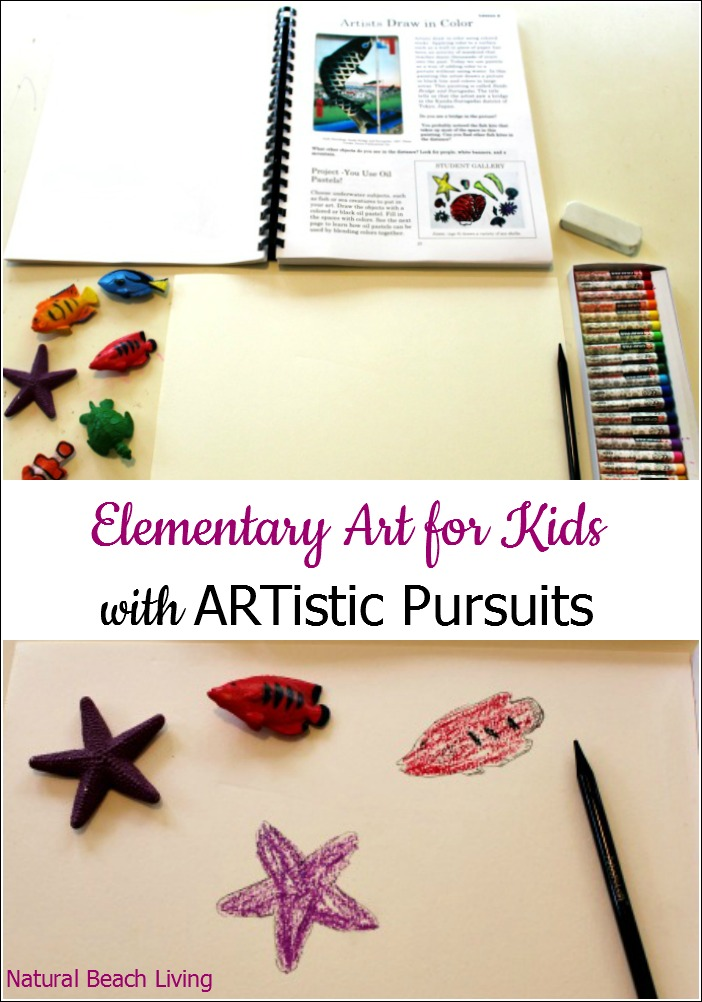Elementary Art for Kids with Artistic Pursuits Inc., 36 lessons of art curriculum for early elementary, perfect for homeschooling, multi-age learning