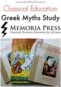 Classical Education ~ Memoria Press D'Aulaires' Greek Myths Study (review)