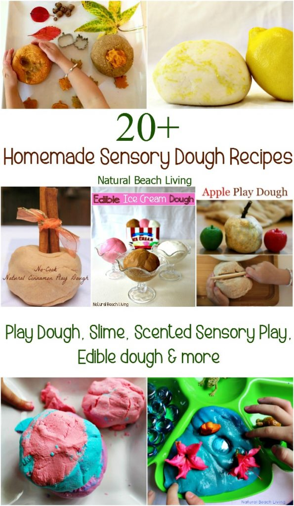20+ Homemade Sensory Dough Recipes, Scented play dough, glow dough, Edible dough, Slime, DIY Sensory play, perfect for themed learning and fine motor skills