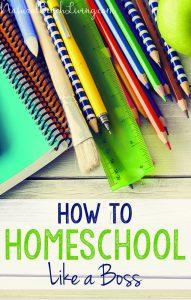 How to Homeschool Like a Boss