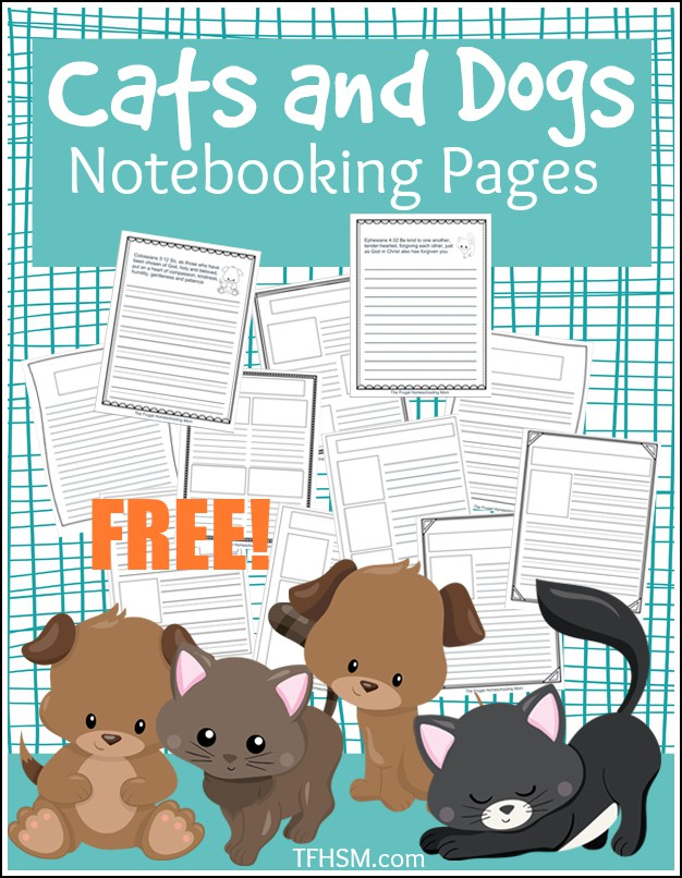 Cats-and-Dogs-Notebooking-Pages-copyright-TFHSM-p