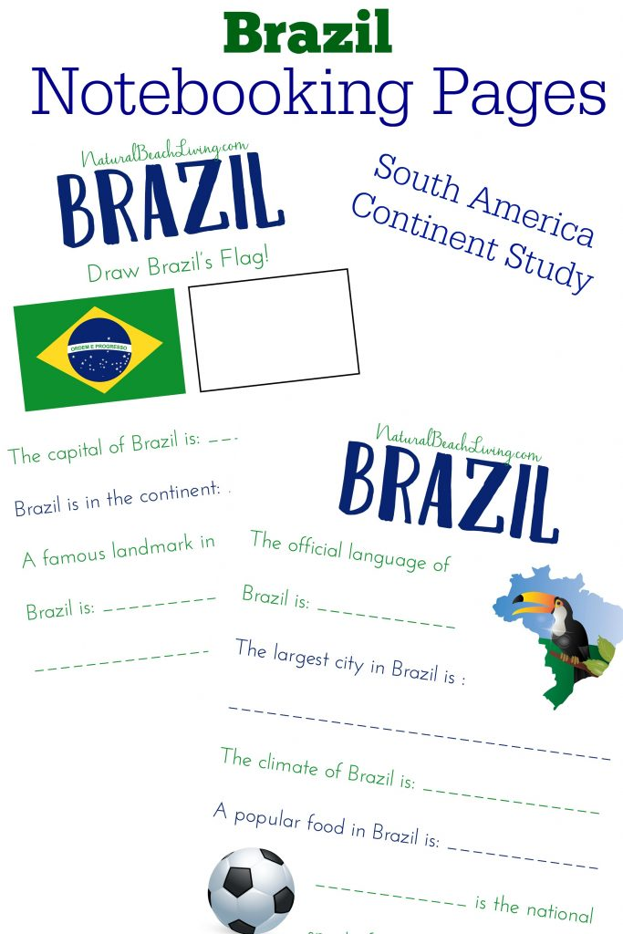 South America Brazil Notebooking Pages, Free Printables, Perfect for the Olympics, How to Teach Geography with Continent Boxes, DIY Montessori Continent Boxes, A multi-sensory approach to learning with kids, Multi-Culture ideas with kids