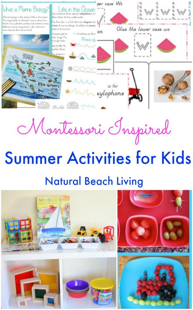 The Best Montessori summer activities for Kids, 12 months of Montessori theme activities, July activities for preschoolers, Ocean, Kids food, Transportation