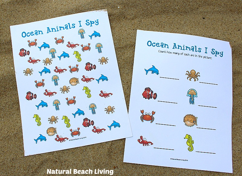 Printable ocean animals for kids