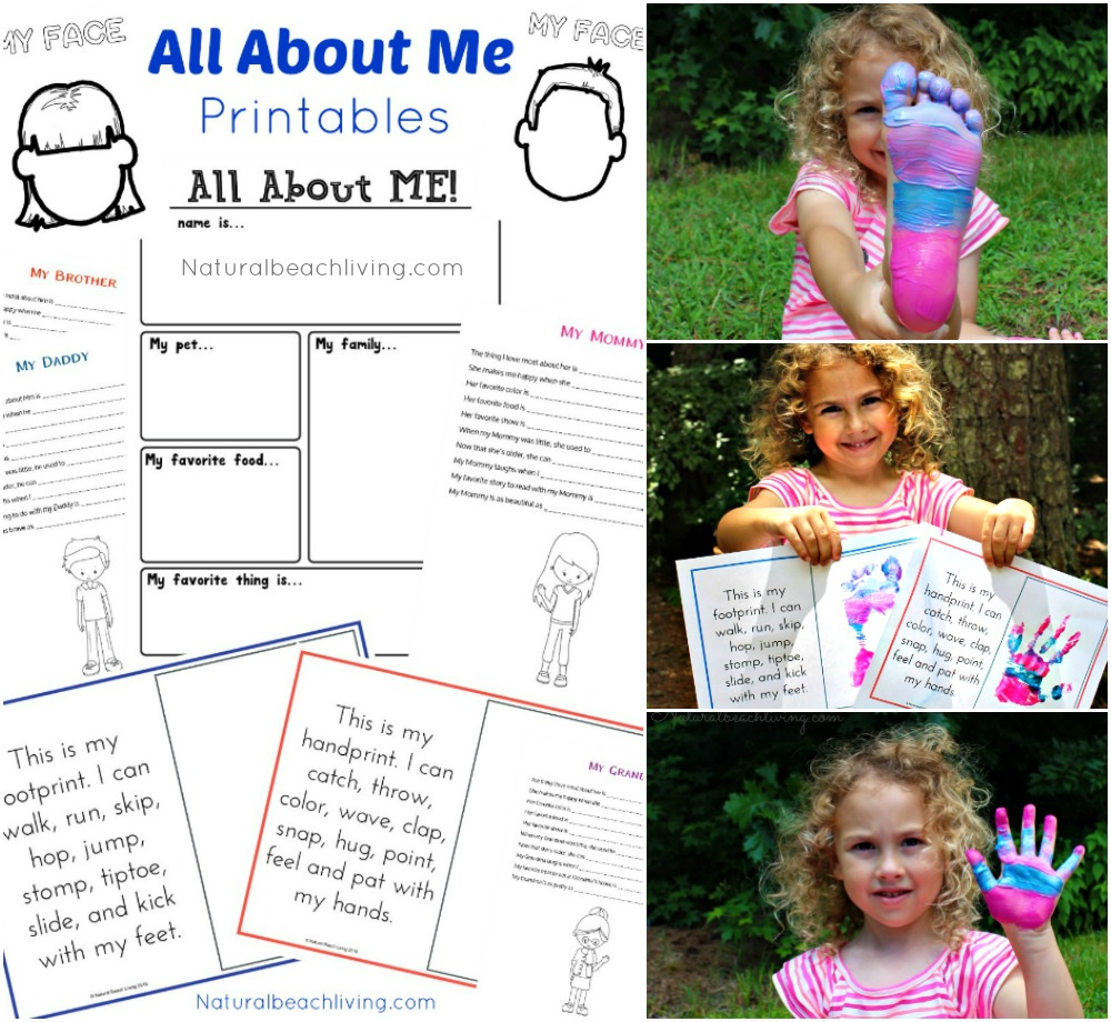 All About Me Activity Theme for Preschool & Kindergarten