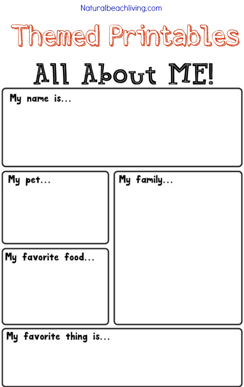 Absolutely Adorable All About Me Activity, Family Keepsakes, Free Printables, Handprints, Footprints, fun kids activities, Crafts, All About Me Theme