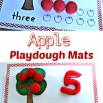 Free Apple Play Dough Mats