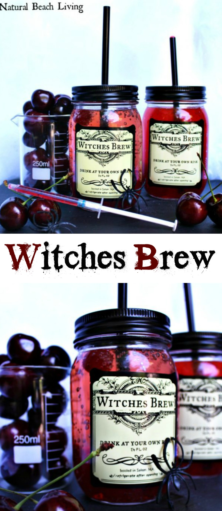 Witches Brew Halloween Drink for Kids, Super fun and easy to make, Non-alcoholic, Perfect Halloween party drink, Halloween Free Printables, Spooky Delicious