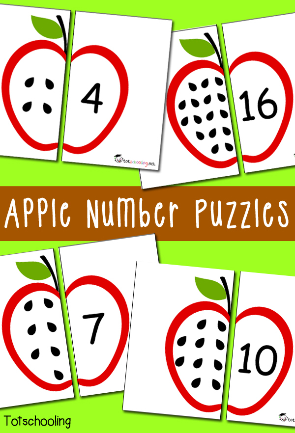 Apple Number Puzzles_free