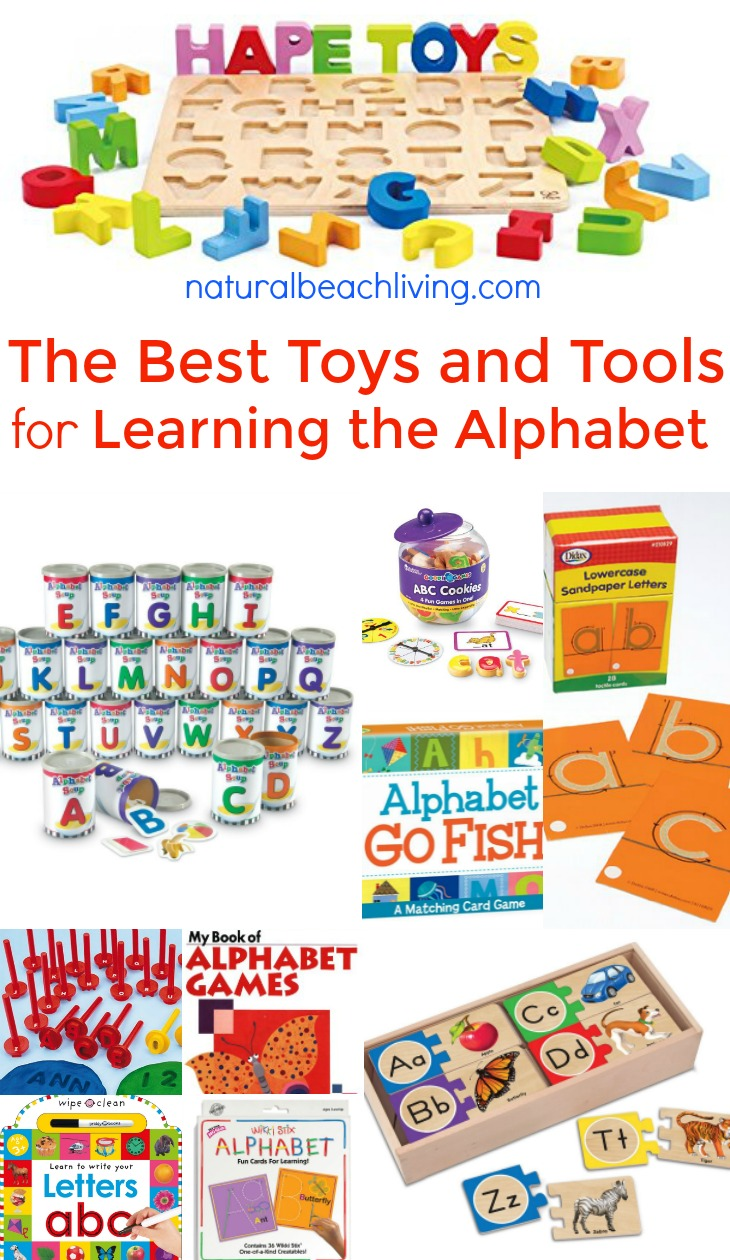 The Best Toys and Tools for Learning the Alphabet, Hands on Alphabet activities, Preschool Gifts, alphabet games, Montessori alphabet, Teaching the Alphabet