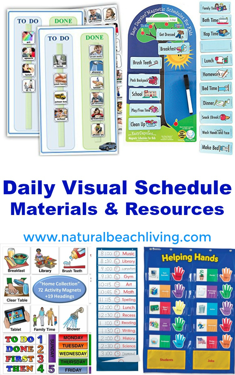 daily visual schedule materials, Home Visual Schedule Printables for Morning and Night Routine, Perfect Visual Schedule Printables for Kids, Special needs & Autism charts, Free Home Routine