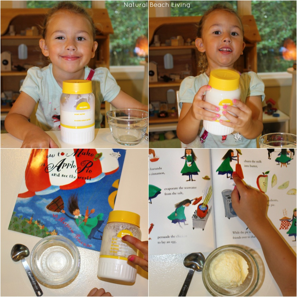 homemade butter, The Best Apple Activities for Toddlers, Preschoolers and Kindergartners, FIAR, BFIAR, Free Printables, How to Make an Apple Pie, Homemade, Hands on Learning