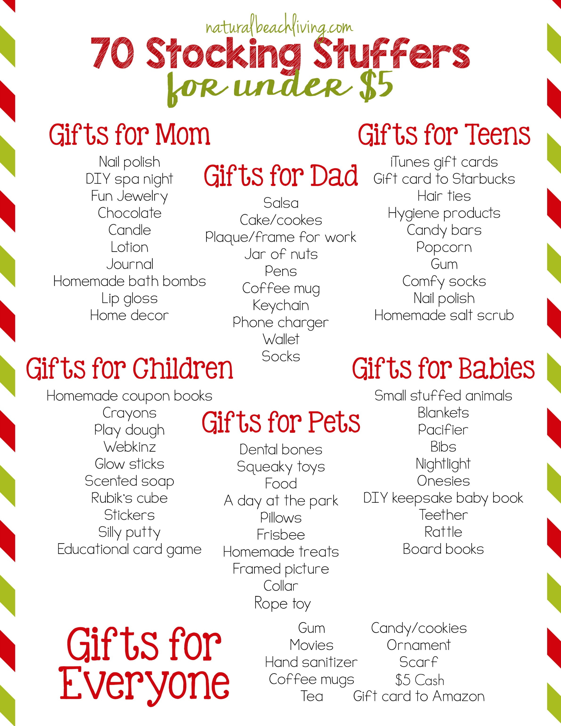70 Super Stocking Stuffers for Under $5